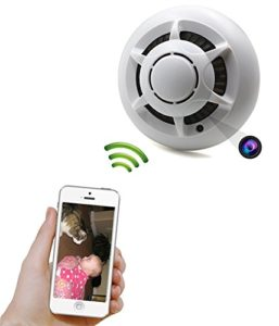 Use your mobile phone to detect hidden camera in smoke detector