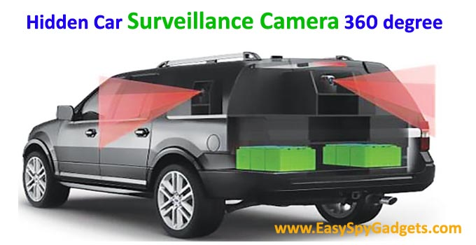 hidden car surveillance camera 360 degree